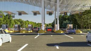 Dynamic toll lanes sygnage